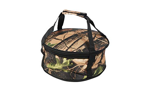 Round Insulated food carrier with handles and a zip around closure for easy carrying for casseroles, pies, lunch, potluck, Picnics and more to help keep food warm