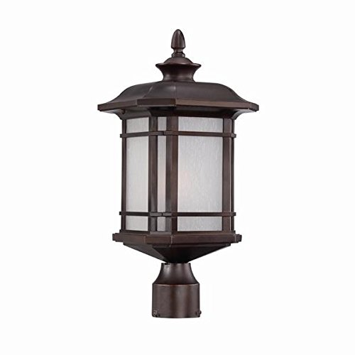 Acclaim 8117ABZ Somerset Collection 1-Light Post Mount Outdoor Light Fixture, Architectural Bronze by Acclaim
