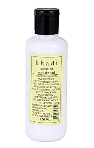 Khadi Mosturising Lotion With Sandal, Kesar and Aloevera, 210ml