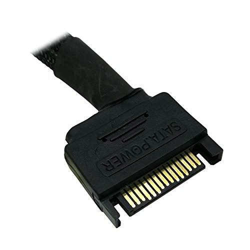 COMeap SATA to 3x 4 Pin Male PWM Sleeved Computer Case Fan Power Splitter Adapter Cable 12-inch(30cm) by COMeap (Image #1)