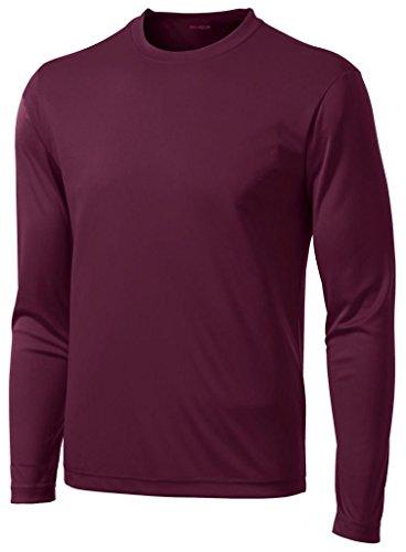 DRI-Equip Long Sleeve Moisture Wicking Athletic Shirt-4X-Lar