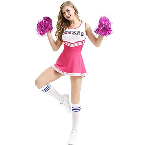 Junchaokk Women's Cheerleader Outfit Lingerie School Girl Babydoll Costume Cosplay Body Suit Musical Party Halloween Fancy Dress]()