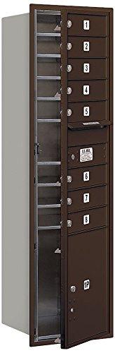 Mailbox, 4C, Bronze, 55in H, 80 lb, Alum