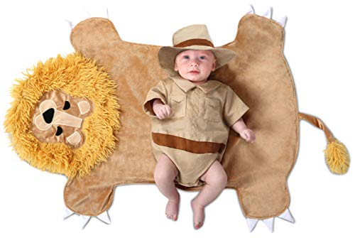 Princess Paradise Swaddle Wings Baby Costume, Safari Hunter, 0 to 3 - Wings Safari