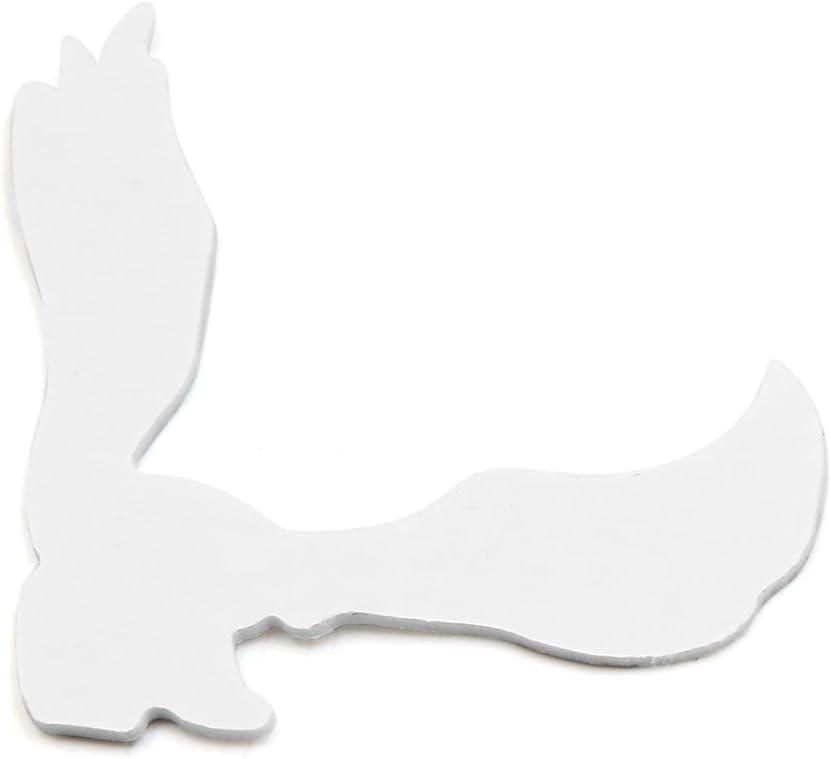 sourcing map Silbern Metall Adler-Form Auto Au/ßen Dekoration Aufkleber klebendes Abziehbild DE de
