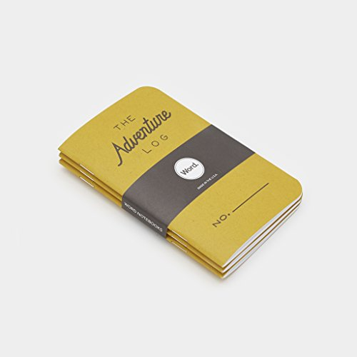 Word Notebooks Adventure Log - Yellow 3-Pack - Traveler's Pocket Notebooks Photo #5