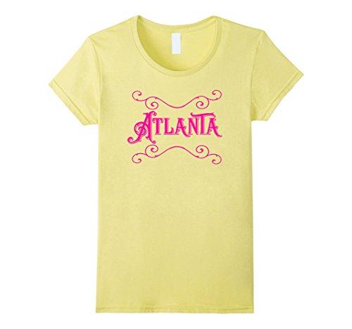 Women's Atlanta City Hot Pink T shirt Small - Atlanta Women Hot