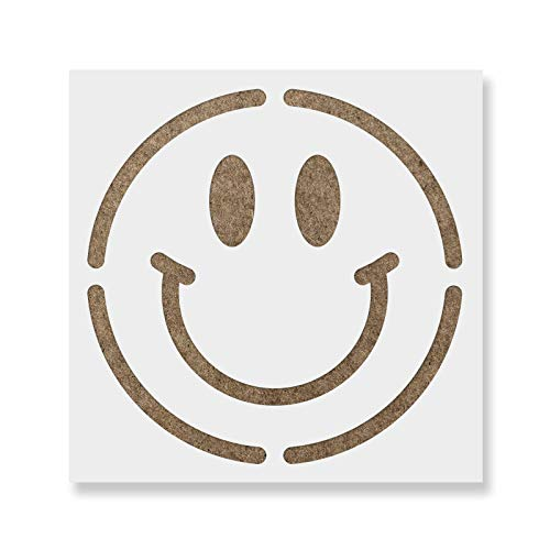 Smiley Face Stencil Template - Reusable Stencil with Multiple Sizes Available (Happy Face Stencil)