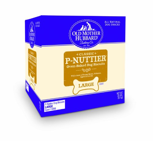 Old Mother Hubbard Crunchy Classic Snacks for Dogs, Large P-Nuttier, 20-Pound Box, My Pet Supplies