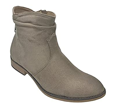 MVE Shoes Women's Stylish Elastic Side Panel Ankle Riding Chelsea Booties Shoes