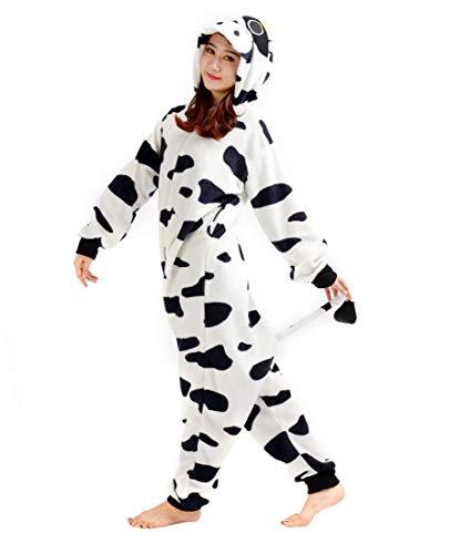 Cosplay Pigiama Adulti Carnevale Unisex Kigurumi Costume Mucca Animale Halloween qw7EI4