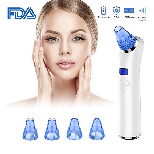 Imbeang Blackhead Remover USB Rechargeable Vacumn Suction (Blue&White)
