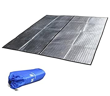 Movnow 114x114 Inch Aluminum Foil Mat Tent Footprint Waterproof Sleeping Pads Rain Shelter Picnic Blanket for  sc 1 st  Amazon.com & Amazon.com : Movnow 114x114 Inch Aluminum Foil Mat Tent Footprint ...