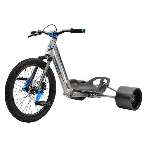 Triad Syndicate 2 Drift Trike Ride On, Transparent Raw/Blue