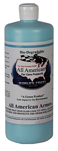 All American Car Care Products All American Armor - Water-based Silicone Silicone Dressing for Leather, Vinyl, Plastic, Rubber, and More (32 Ounces) (Top Vinyl Dressing)