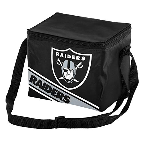 Oakland Raiders Big Logo Stripe 12 Pack Cooler ()