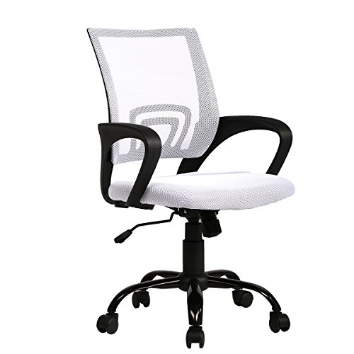 New Computer Office Desk Ergonomic Mesh Midback Task Chair w/Metal Base
