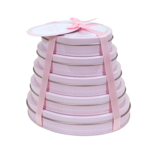 Child to Cherish Handprint Tower of Time Oval, Pink by Child to Cherish