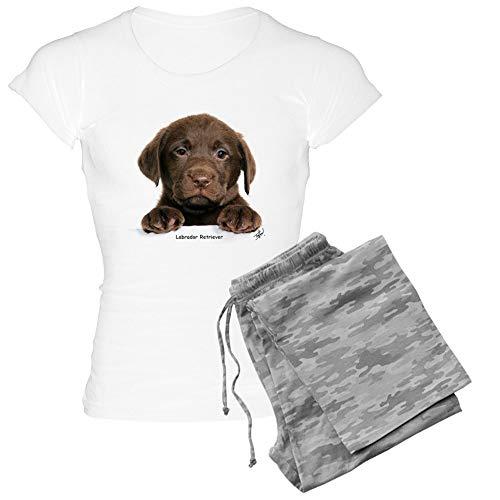 CafePress Chocolate Labrador Retriever Womens Novelty Cotton Pajama Set, Comfortable PJ Sleepwear