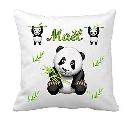 Genérico Cojín Personalizado pequeño Panda con Nombre de ...