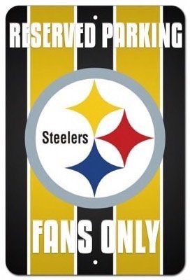 Pittsburgh Steelers Vanity Reserved Parking Fans Street Sign (Fans Reserved Parking Sign)