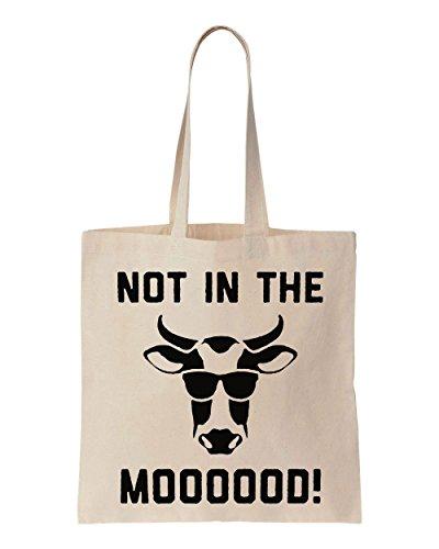 Not In The Mooood Cool Cow Sacchetto di cotone tela di canapa