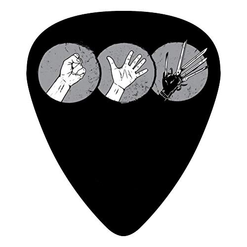 Burton Womens Player - Rock Paper Scissor....Hands! 351 Shape Medium Classic Celluloid Picks, 12-Pack, For Electric Guitar, Acoustic Guitar, Mandolin, And Bass