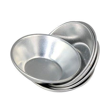 Dealglad Moldes de aluminio anodizado para repostería, 20 unidades: Amazon.es: Hogar