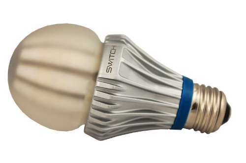 EarthLED DesignoLUX-360 Soft White SWITCH Lighting A23201FA2-R Classic A19 LED Light Bulb with 75-Watt Replacement and Frost Lens 2700K
