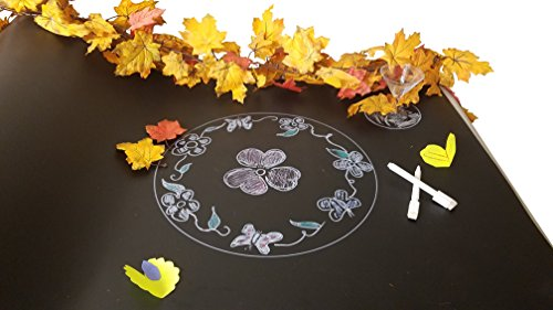 Chalk Board Table Runner for Parties, Entertaining, Drawing: Comes with 2 white Chalk Markers.