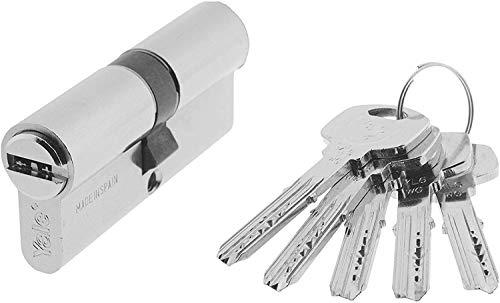 Yale, YL64060HN, Cilindro de Seguridad, YL6, Leva Larga, Llave - Llave, Niquelado, 40 x 60 mm