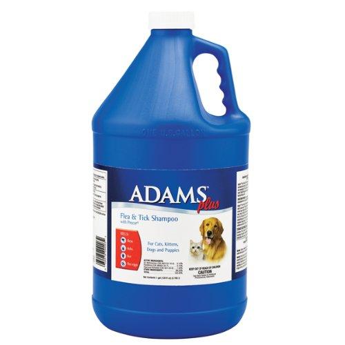 Adams Plus Flea and Tick Dog and Cat Shampoo with Precor, 1-Gallon, My Pet Supplies