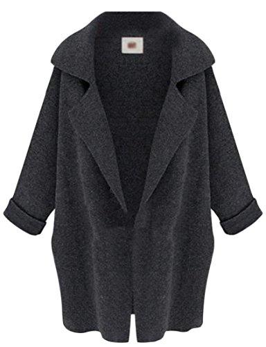 Sweater M 1 Plus amp;S amp;W Knit Cardigan Fashion Notch Collar Size Women's rAvrPxfq