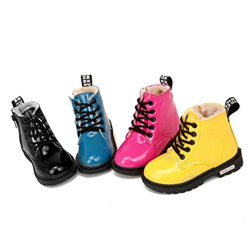 Eagsouni® Mädchen Jungen Klassischer Martin Stiefel / Schneestiefel Warme Schuhe / PU Leder Ankle Boots Gelb