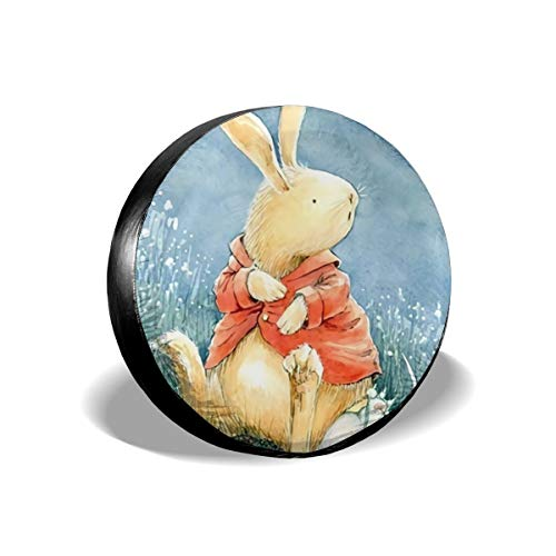 - Ganwinsh Tire Cover Cute Rabbit Spare Wheel Cover Universal Fit for Jeep,Trailer, RV, SUV and Many Vehicle 17 Inch
