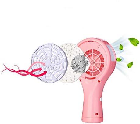 Pink Yujiayi Interesting Mini Fan Cute Leafless Fan USB Mini Leafless Fan Portable Handheld Fan for Student Dormitory Home Office Outdoor Travel