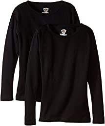 Duofold Women\'s Mid Weight Wicking Thermal Shirts (Pack of 2), Black, Large