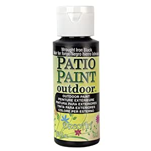 DecoArt Patio Paint, 2-Ounce, Wrought Iron Black