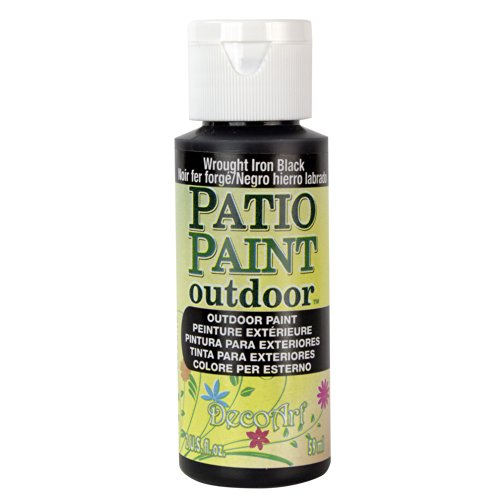 Patio Paint Wrought Iron - DecoArt Patio Paint, 2-Ounce, Wrought Iron Black