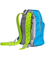 """Squid Unisex Child Backpack-Turquoise/Lime Green-H: 16.5"""" W: 11.5"""" D: 5"""""""