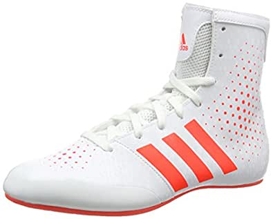adidas KO Legend 16.2 Men's Boxing Boots, White/Red, US10.5