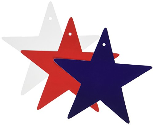 Beistle 55835 10-Pack Star Cutouts, (Star Cutouts Decorations)