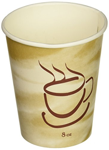 Gogo by Crystalware Gogo Paper Hot Cups with Coffee Design, 8 oz. Capacity, Packed 1 Bag of 50 Cups (Paper Coffee Cups 8 Oz Lids compare prices)