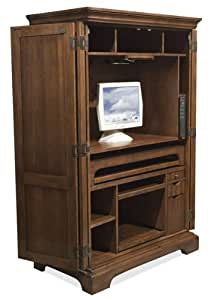 Riverside Furniture Cantata Computer Armoire in Burnished Cherry