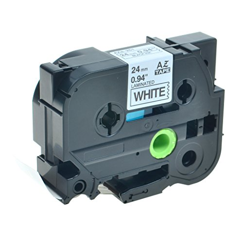 Free Greencycle 1 PK Replacment TZ251 TZe251 Black On White Tape Compatible with Brother P Touch Labeler