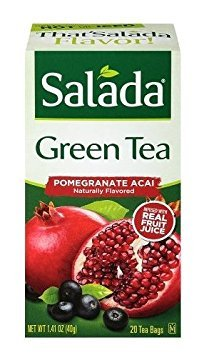 (Salada Metabolism 20 Green Tea Bags - Pomegranate Acai (Pack of 2 - 40 Total Bags))