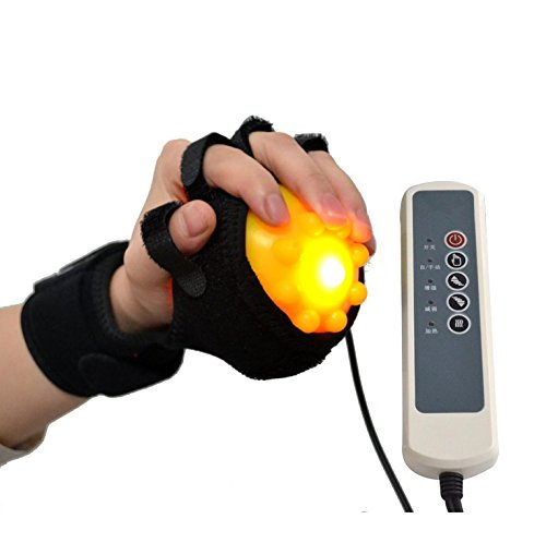 Hand Massage Machine - Electric Hand Massager Ball Heat Massage Hand and Fingers Physiotherapy Rehabilitation for Spasm Dystonia Hemiplegia Stroke