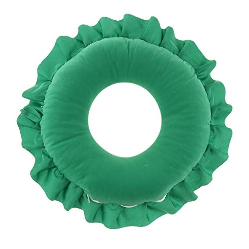 建築水白菜Fenteer フェイス枕 顔枕 マッサージ枕 マッサージピロー 美容院 柔らかい 快適 洗える 全4色 - 緑