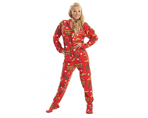 Jumpin Jammerz Wonder Woman Footed Pajamas (Extra Small) -