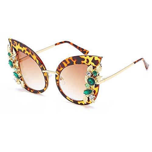 gran gato de Gafas sol de sol gafas tamaño Gafas ojo mujer de con Inlefen de C2 estilo qzSxY6zw